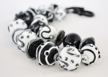Black and White Series necklace - blown hollows #1974