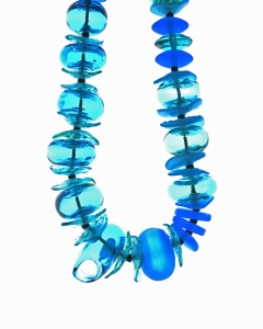 Azure Blue Series necklace - blown hollows #1980