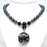 Gunmetal Series Necklace #1514