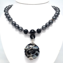 Gunmetal Series Necklace #1514
