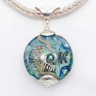 Seabed Series pendant on Viking knit