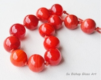 Seeing Red Series - Red hollows necklace