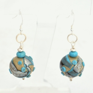 Turquoise Hollows earrings #1794