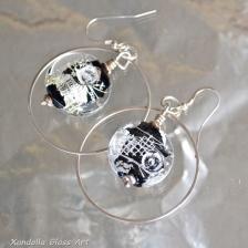 Black and Silver Series earrings #1841