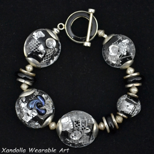 Black and Silver Series bracelet #1910