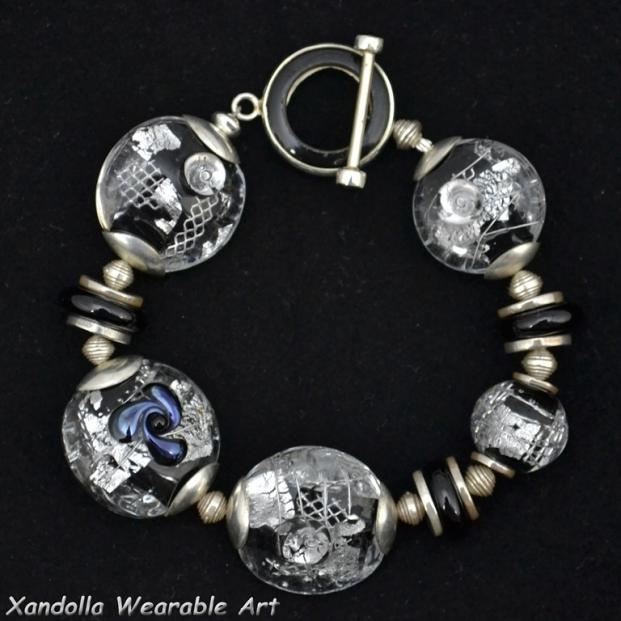 Black and Silver Series bracelet #1910