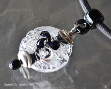 Black and Silver Series pendant #2022